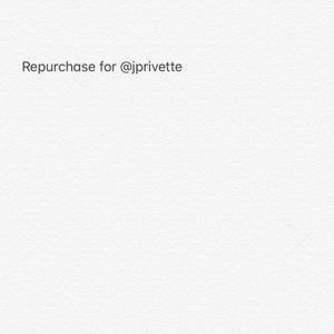 Repurchase for @jprivette